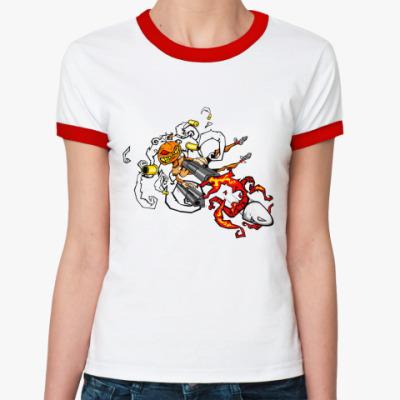 Женская футболка Ringer-T Hall Bullet   Ж(б/к)