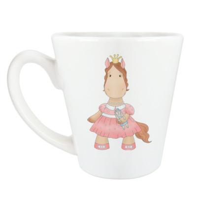 "Чашка Латте Кружка латте (360 мл) ""Лошадка Принцесса"""