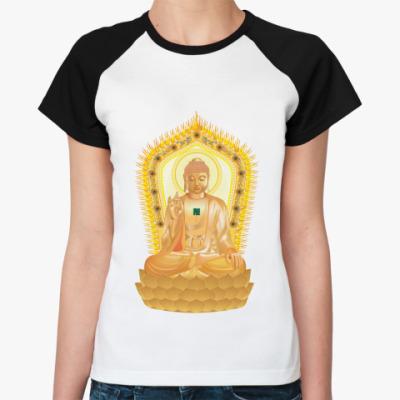 Женская футболка реглан Buddha
