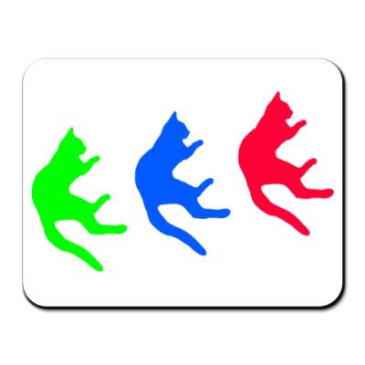 Коврик для мыши Падающие коты