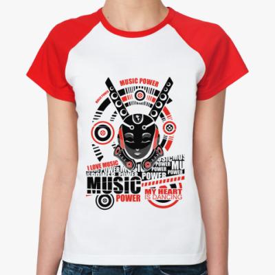 Женская футболка реглан Music   Ж ()