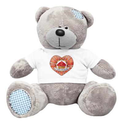 Плюшевый мишка Тедди I love cupcakes