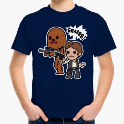 Детская футболка Чубакка и Хан Соло