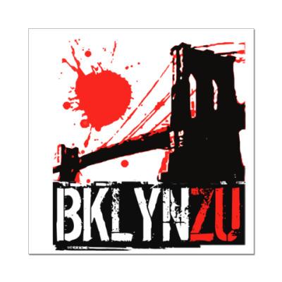 Наклейка (стикер) Brooklyn Zu