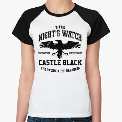 Женская футболка реглан Игра престолов.Ночной дозор