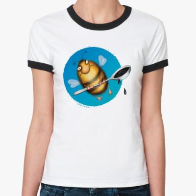 Женская футболка Ringer-T  ж Пчела
