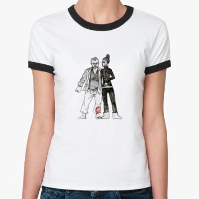 Женская футболка Ringer-T   Capoeira
