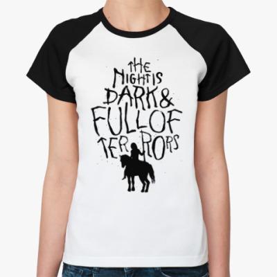 Женская футболка реглан Игра престолов.Белые ходоки