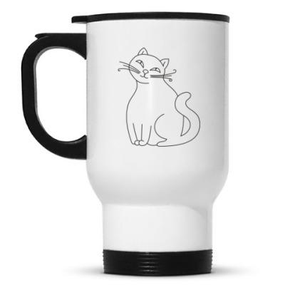Кружка-термос Для задумчивой кошки