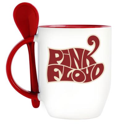 Кружка с ложкой Pink Floyd
