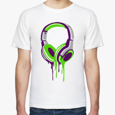 Футболка наушники  headphones