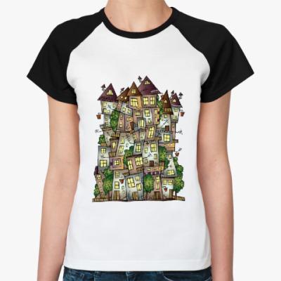 Женская футболка реглан Дом, милый дом