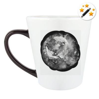 Кружка-хамелеон Черно-белая роза