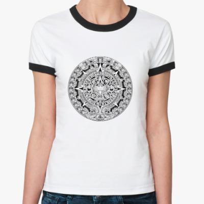 Женская футболка Ringer-T  Ацтеки