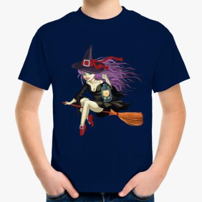 Детская футболка Ведьмочка на метле