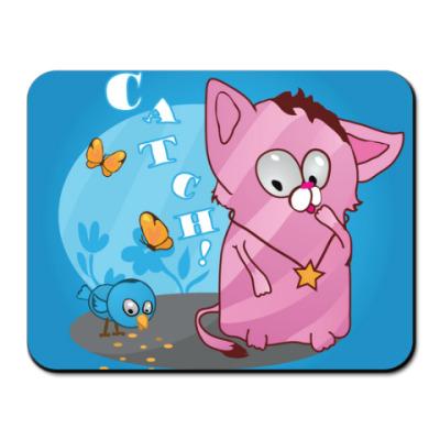 Коврик для мыши Кот-охотник