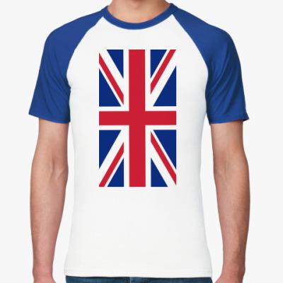 Футболка реглан Флаг Великобритании