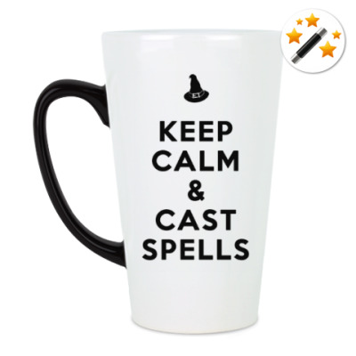 Кружка-хамелеон KEEP CALM & cast spells (двусторонняя)