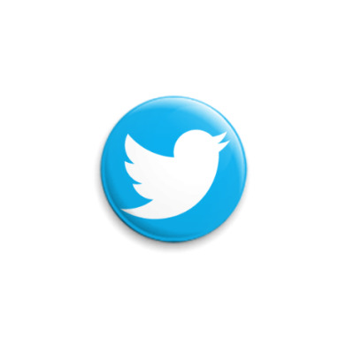Значок 25мм Twitter