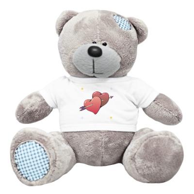 Плюшевый мишка Тедди Мишка Два сердца