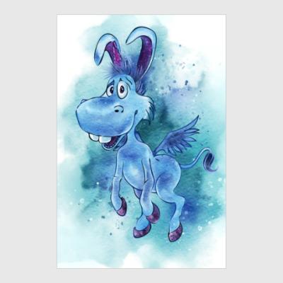 Постер Happy the unicorn