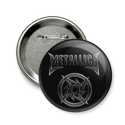 Значок 58мм Metallica