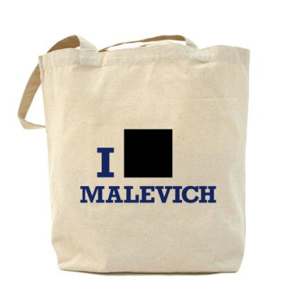 Сумка Холщовая сумка Malevich син.