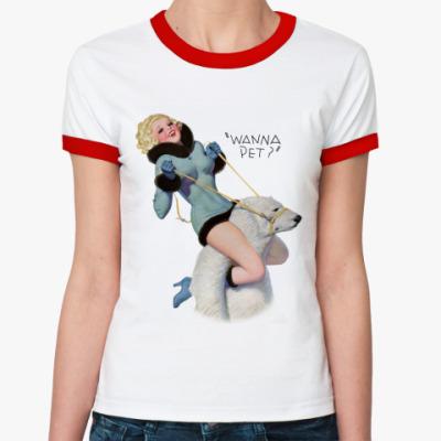 Женская футболка Ringer-T Pin-Up Girl