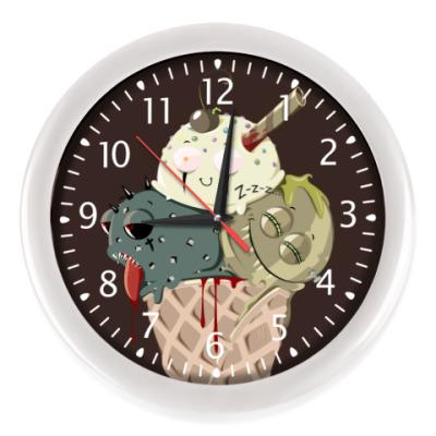 Настенные часы Рожок Морожок Halloween edition