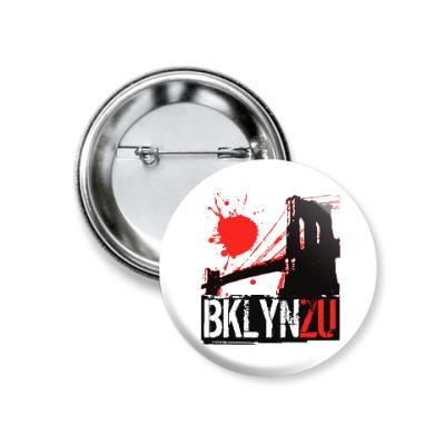 Значок 37мм Brooklyn Zu