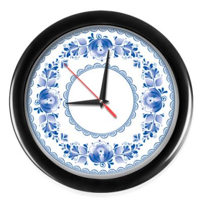 Настенные часы Традиционный орнамент «Гжель»
