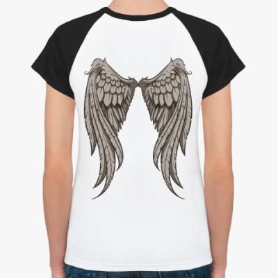 Женская футболка реглан Крылья