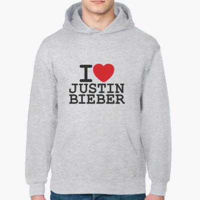 Толстовка худи I love Justin Bieber