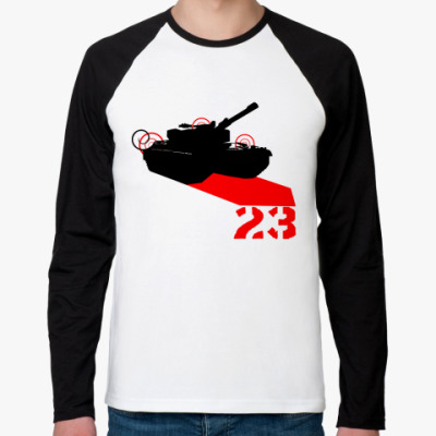 Футболка реглан с длинным рукавом Tank 23