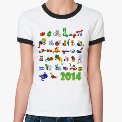 Женская футболка Ringer-T FIFA 2014