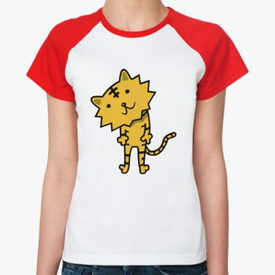 Женская футболка реглан   'Тигренок'