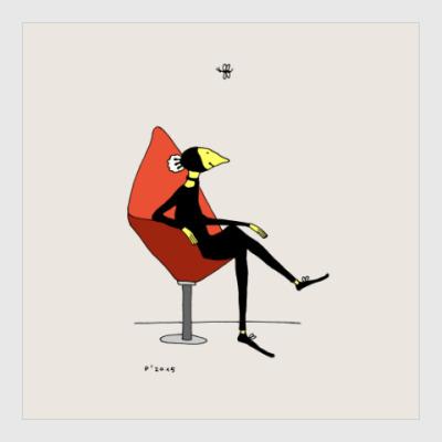 Постер Red Chair
