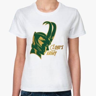 Классическая футболка  Мстители Армия Локи