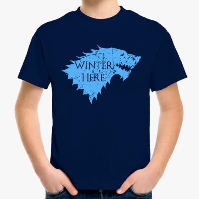 Детская футболка Игра престолов. Winter is here