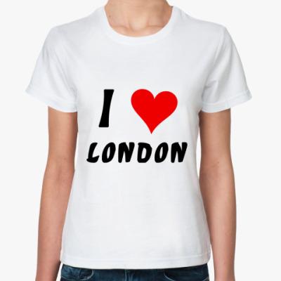 Классическая футболка I love London