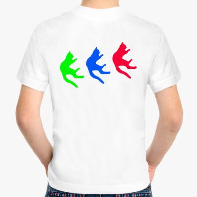 Детская футболка Падающие коты
