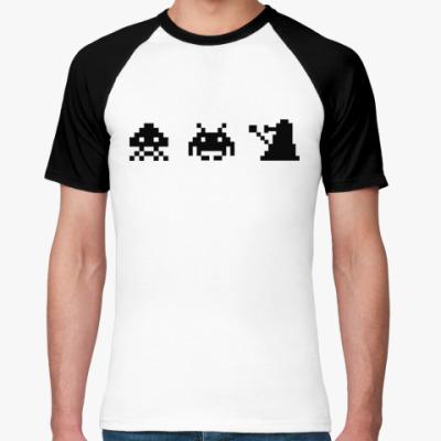 Футболка реглан Dalek & Space Invaders