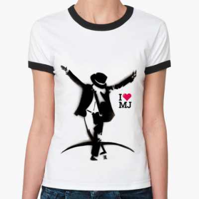 Женская футболка Ringer-T Michael Jackson dance