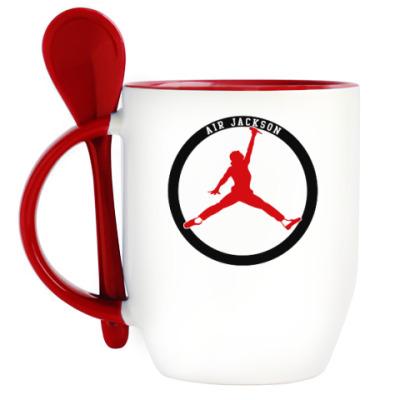 Кружка с ложкой Air Jackson