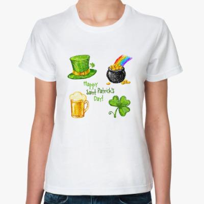 Классическая футболка Saint Patrick Day sketch