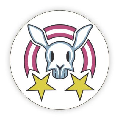 Костер (подставка под кружку) Звездный заяц