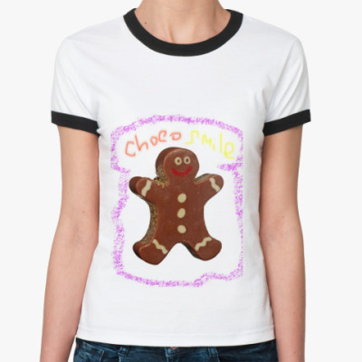 Женская футболка Ringer-T chocogirl