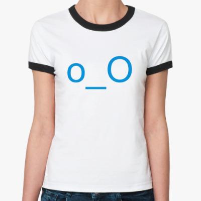 Женская футболка Ringer-T Смайлик