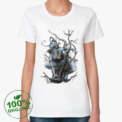 Женская футболка из органик-хлопка Охотница