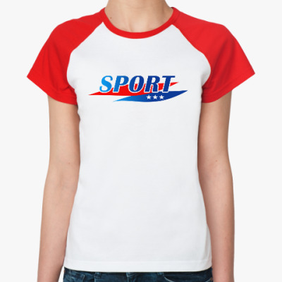 Женская футболка реглан Спорт